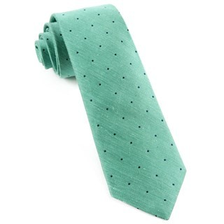 Bulletin Dot Mint Tie