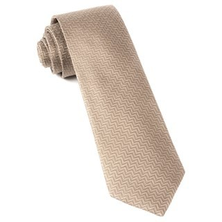 Dance The Zig-Zag Champagne Tie