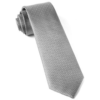Dance The Zig-Zag Silver Tie