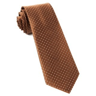 Mini Dots Brown Tie