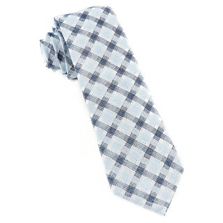Plaid Bliss Sky Blue Tie