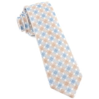 Plaid Bliss Light Champagne Tie
