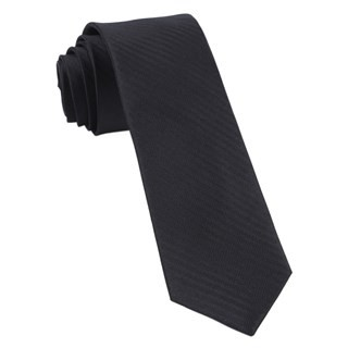 Sound Wave Herringbone Black Tie