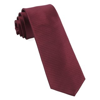 Sound Wave Herringbone Burgundy Tie