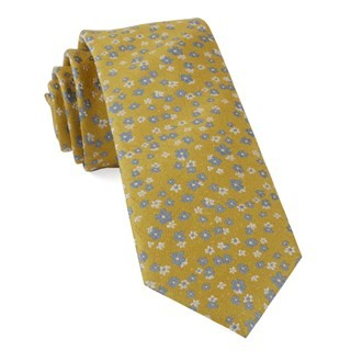 Free Fall Floral Yellow Gold Tie