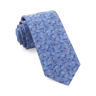 Floral Acres Light Blue Tie