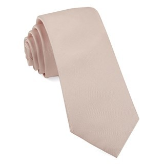 Grosgrain Solid Blush Pink Tie