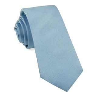 Grosgrain Solid Steel Blue Tie
