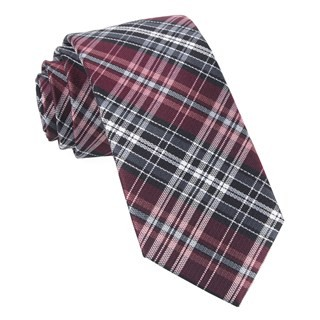 Motley Plaid Burgundy Tie