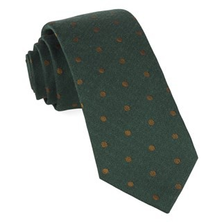 Dotted Hitch Hunter Green Tie