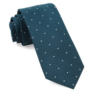 Dotted Report Teal Tie