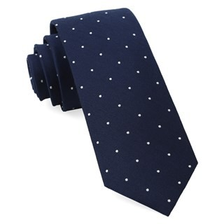 Dotted Report Navy Tie