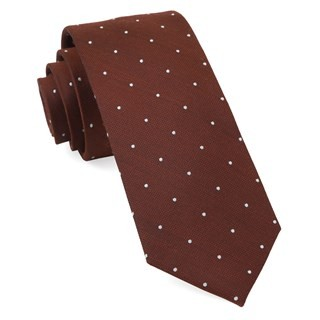 Dotted Report Burnt Orange Tie