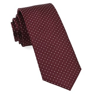 Mini Dots Wine Tie