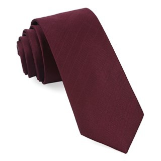 Herringbone Vow Wine Tie