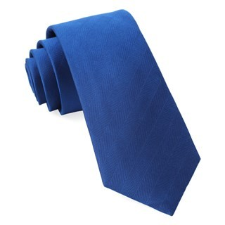 Herringbone Vow Royal Blue Tie