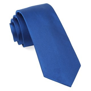 Grosgrain Solid Royal Blue Tie
