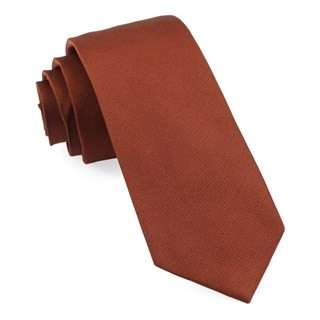 Grosgrain Solid Copper Tie