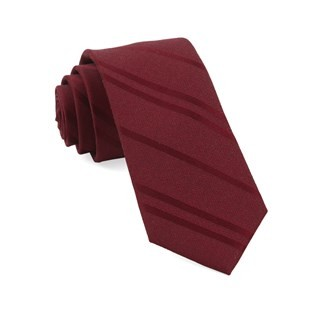 Wool Path Stripe Burgundy Tie