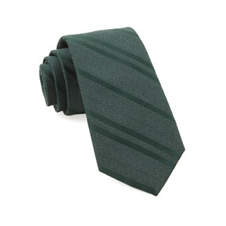 Wool Path Stripe Hunter Green Tie