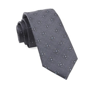 Medallion Shields Grey Tie