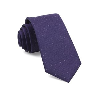Flecked Solid Purple Tie