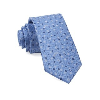 Flower Fields Light Blue Tie