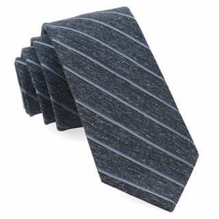 Pike Stripe Navy Tie