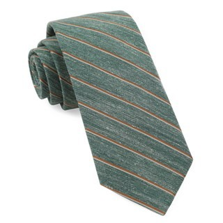 Pike Stripe Hunter Green Tie