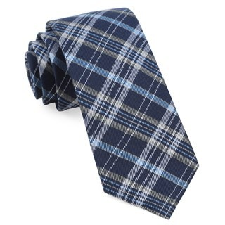 Andersen Plaid Navy Tie