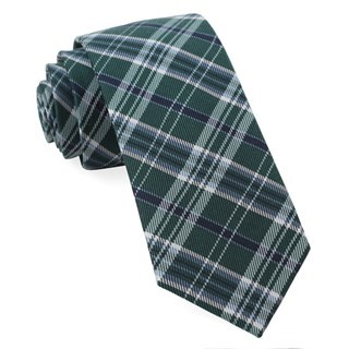 Andersen Plaid Hunter Green Tie