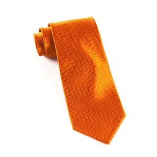 Herringbone Burnt Orange Tie