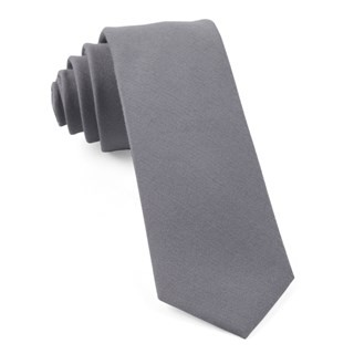 Solid Wool Light Grey Tie