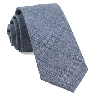 Smithtown Plaid Grey Tie