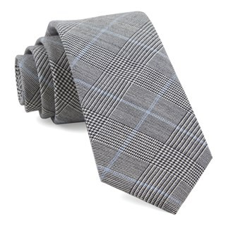 Glens Falls Plaid Black Tie