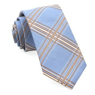 Kp Plaid Light Blue Tie