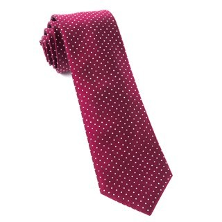 Mini Dots Burgundy Tie