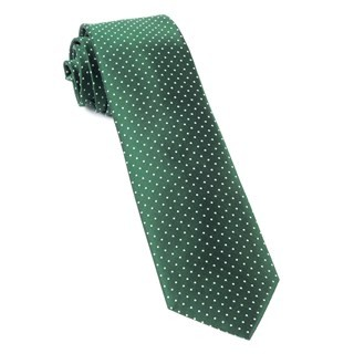Mini Dots Hunter Green Tie
