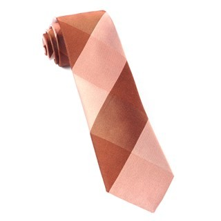 West Bison Plaid Orange Tie