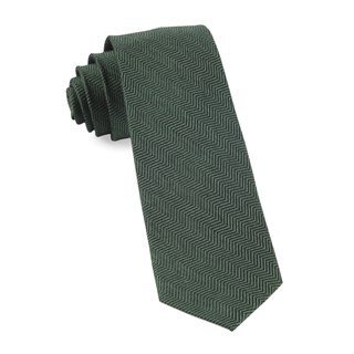 Verge Herringbone Hunter Green Tie