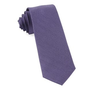 Verge Herringbone Purple Tie