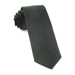 Floral Span Hunter Green Tie