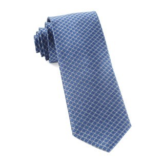 Flower Network Light Blue Tie