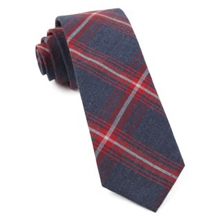 Reprint Plaid Apple Red Tie