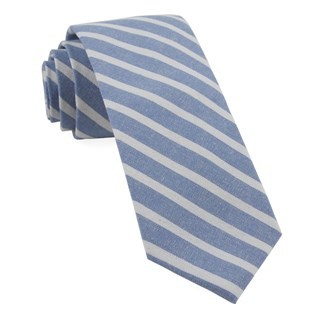 Canopy Stripe Light Blue Tie