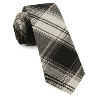 Rancho Plaid Black Tie