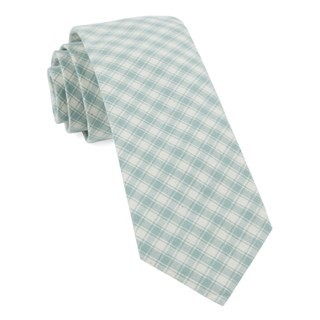 Mesh Plaid Mint Tie