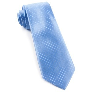 Mini Dots Light Blue Tie