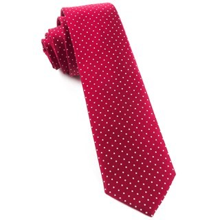 Mini Dots Red Tie