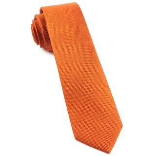 Solid Texture Orange Tie